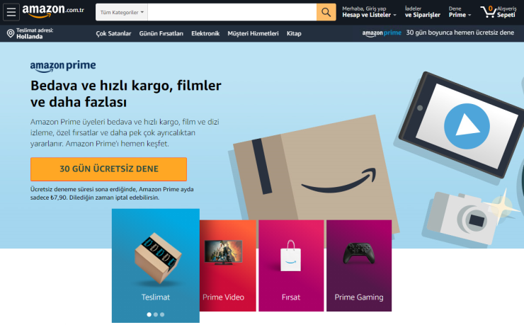 Amazon Prime in Turkey