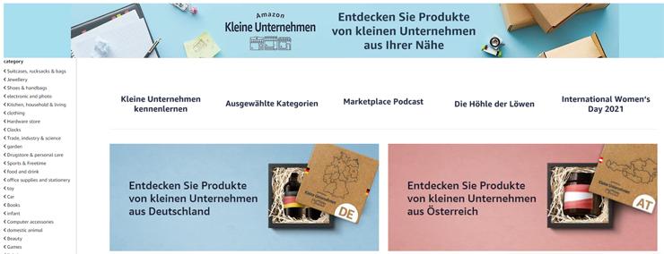 """Amazon Kleine Unternehmen (""""Amazon Small Businesses)"""